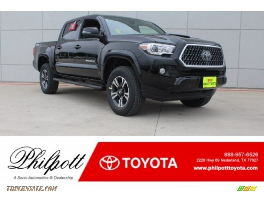 2018 Tacoma TRD Sport Double Cab - Midnight Black Metallic / Graphite w/Gun Metal photo #1