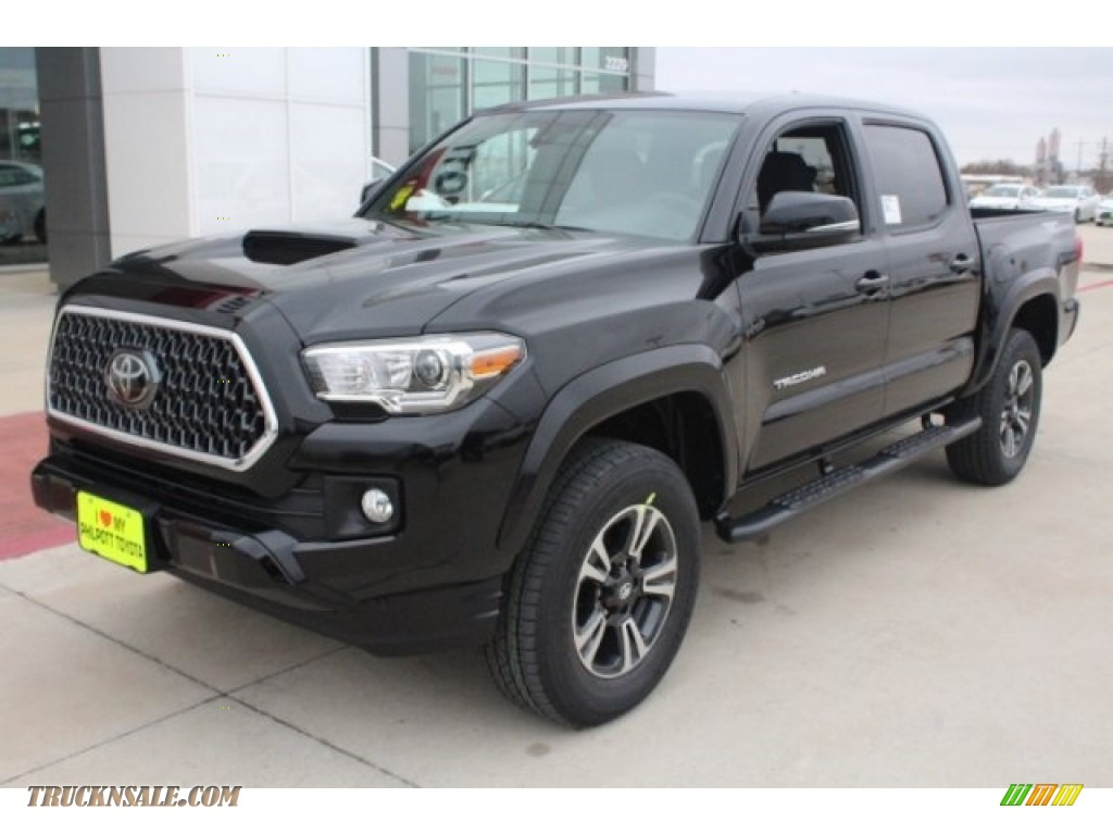 2018 Tacoma TRD Sport Double Cab - Midnight Black Metallic / Graphite w/Gun Metal photo #3