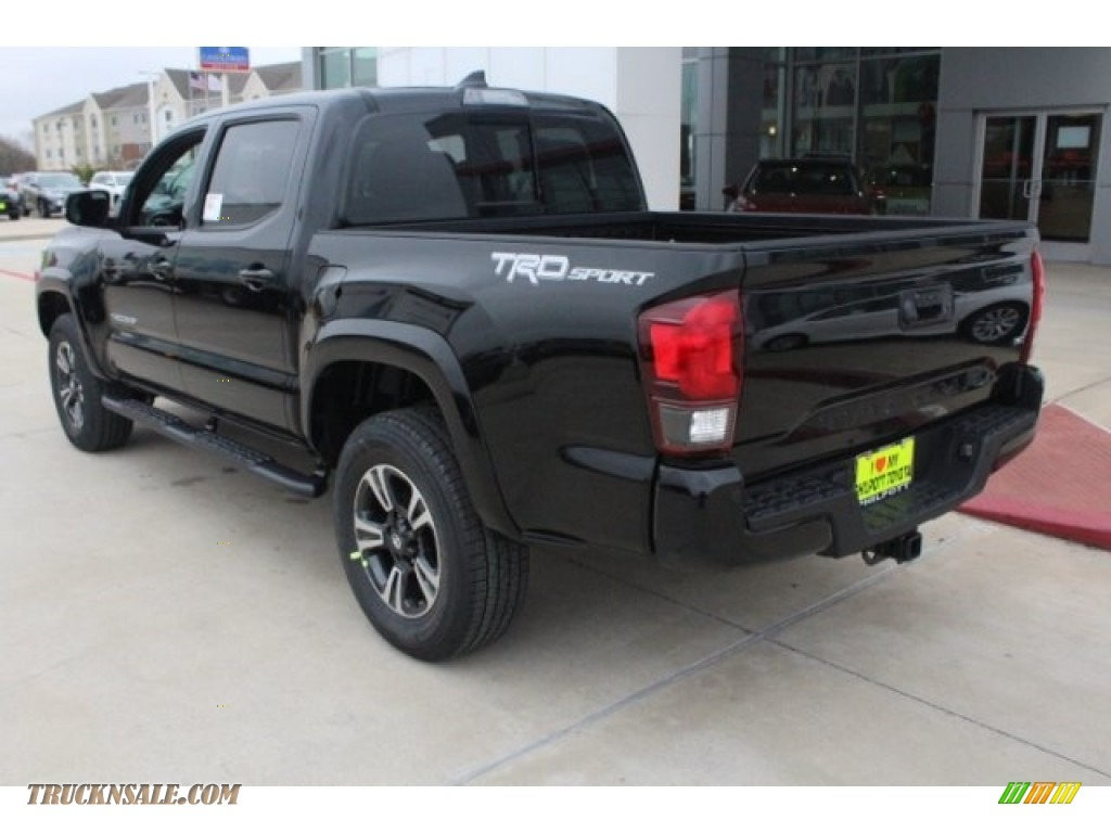 2018 Tacoma TRD Sport Double Cab - Midnight Black Metallic / Graphite w/Gun Metal photo #7
