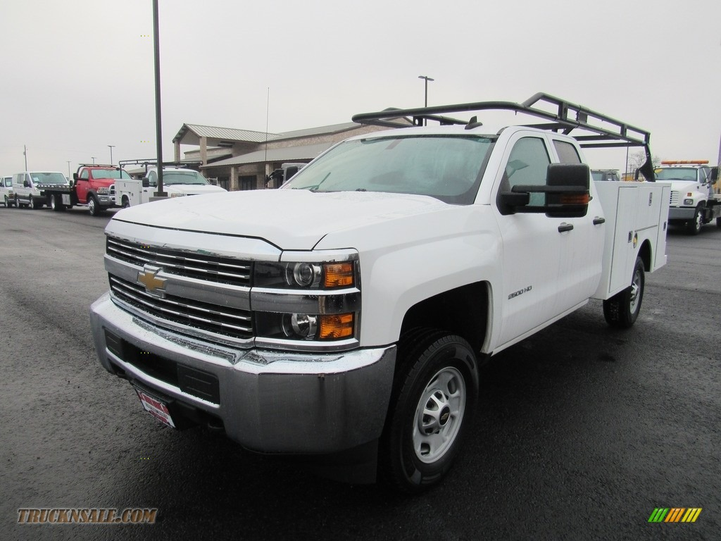 2015 Silverado 2500HD WT Double Cab 4x4 - Summit White / Jet Black/Dark Ash photo #1