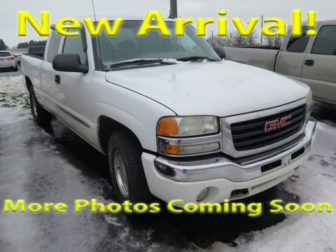 Summit White 2003 GMC Sierra 1500 SLE Extended Cab 4x4