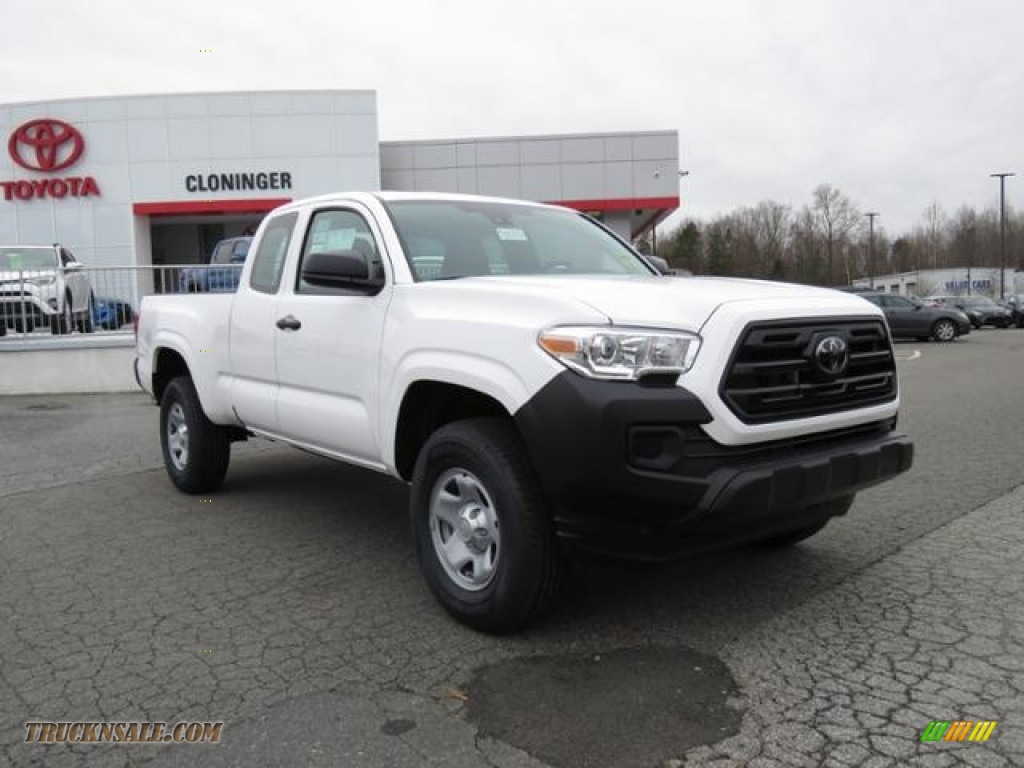 Super White / Cement Gray Toyota Tacoma SR Double Cab
