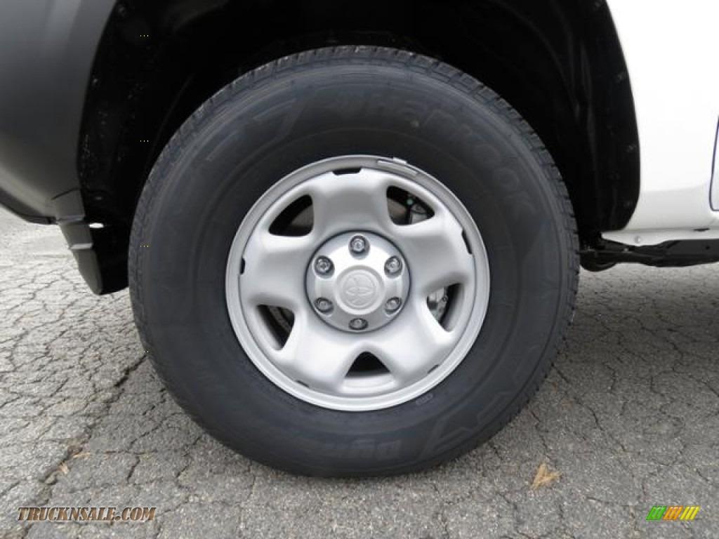 2018 Tacoma SR Double Cab - Super White / Cement Gray photo #4