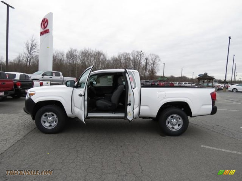 2018 Tacoma SR Access Cab - Super White / Cement Gray photo #7