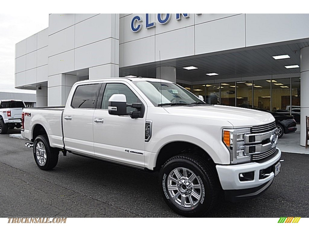 2018 F250 Super Duty Limited Crew Cab 4x4 - White Platinum Metallic / Limited Camelback photo #1