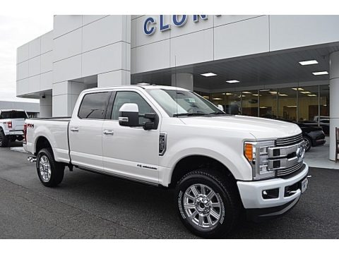 White Platinum Metallic 2018 Ford F250 Super Duty Limited Crew Cab 4x4