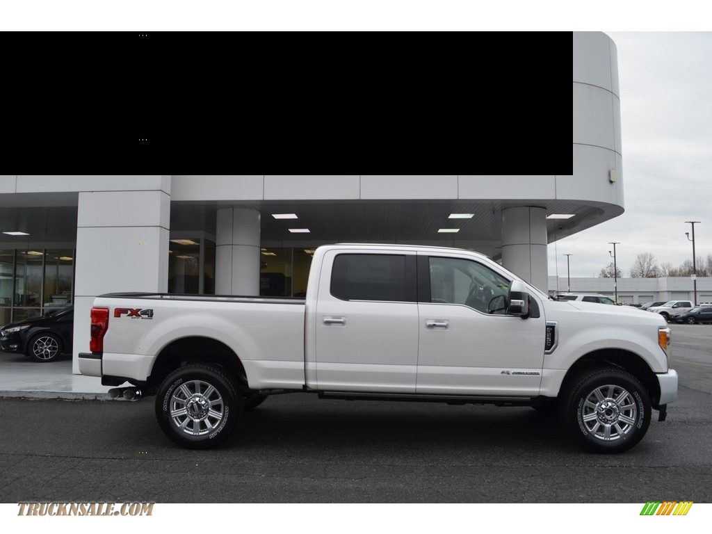 2018 F250 Super Duty Limited Crew Cab 4x4 - White Platinum Metallic / Limited Camelback photo #2