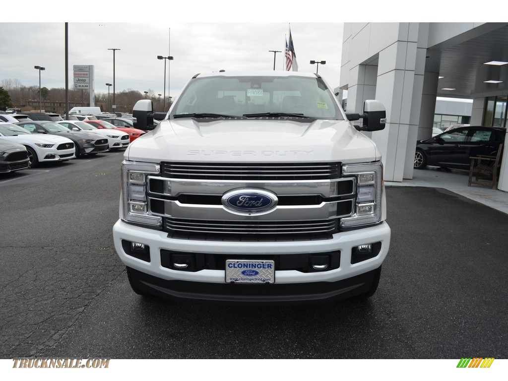 2018 F250 Super Duty Limited Crew Cab 4x4 - White Platinum Metallic / Limited Camelback photo #4