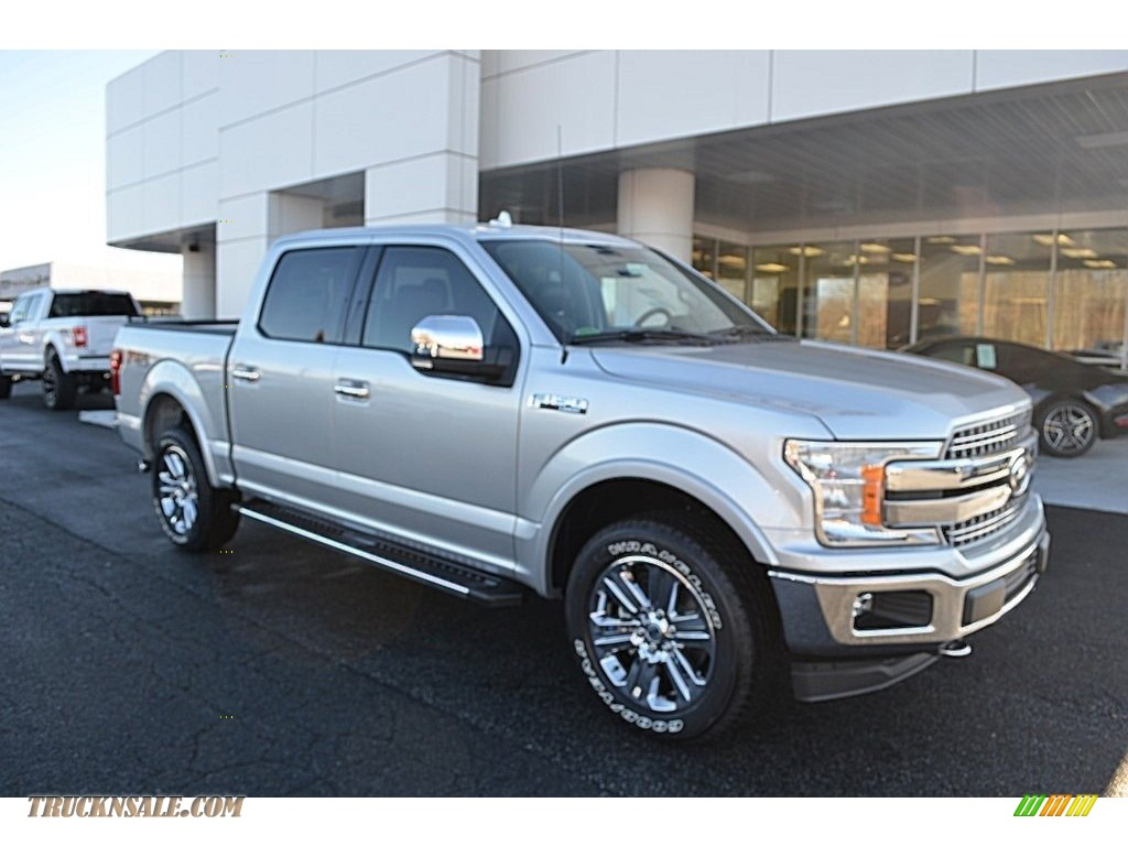 2018 F150 Lariat SuperCrew 4x4 - Ingot Silver / Black photo #1