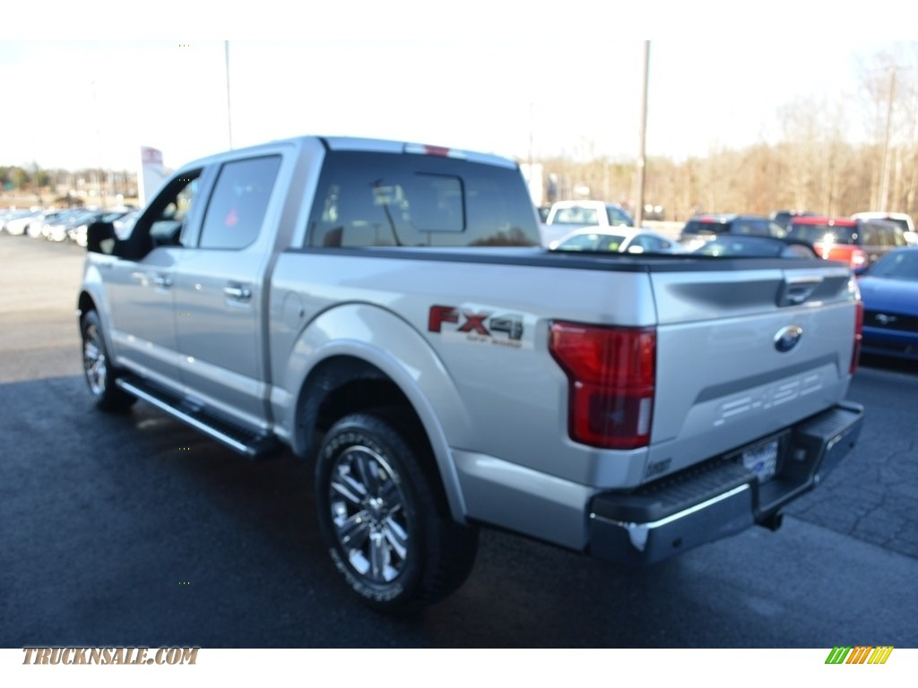 2018 F150 Lariat SuperCrew 4x4 - Ingot Silver / Black photo #26