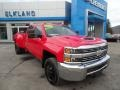 Chevrolet Silverado 3500HD Work Truck Crew Cab Dual Rear Wheel 4x4 Red Hot photo #4