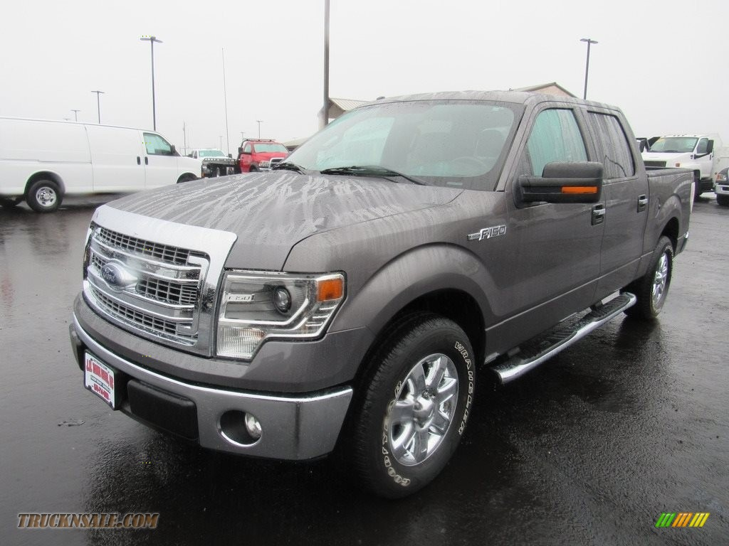 2014 F150 XLT SuperCrew - Ingot Silver / Steel Grey photo #1