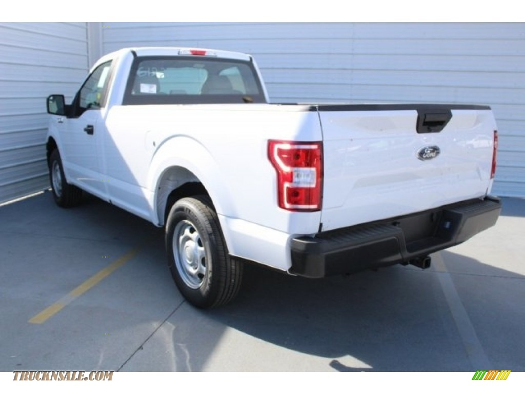 2018 F150 XL Regular Cab - Oxford White / Earth Gray photo #6