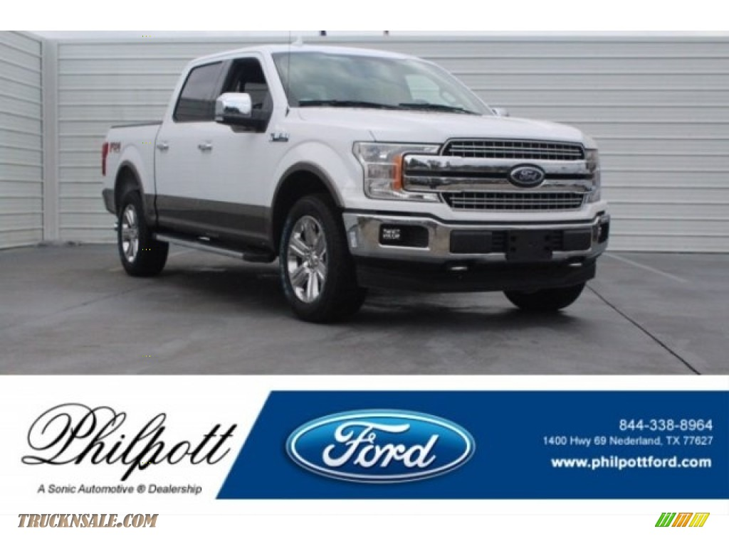 2018 F150 Lariat SuperCrew 4x4 - Oxford White / Black photo #1