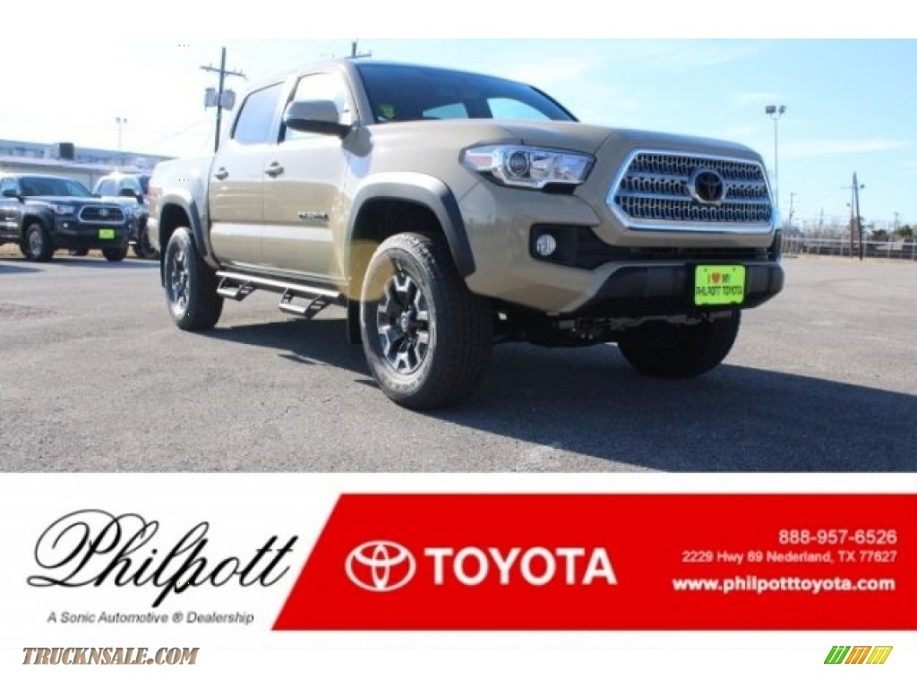 2017 Tacoma TRD Off Road Double Cab 4x4 - Quicksand / TRD Graphite photo #1