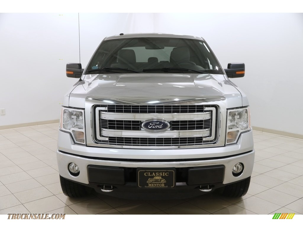 2014 F150 XLT SuperCrew 4x4 - Ingot Silver / Steel Grey photo #2
