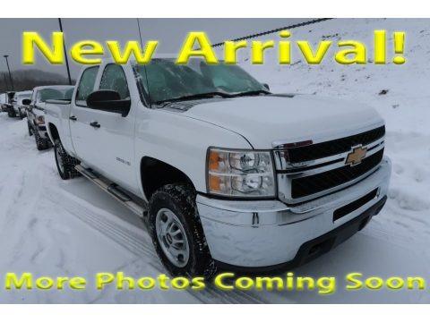 Summit White 2013 Chevrolet Silverado 2500HD Work Truck Crew Cab 4x4