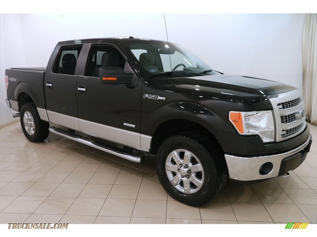 2013 F150 XLT SuperCrew 4x4 - Tuxedo Black Metallic / Steel Gray photo #1
