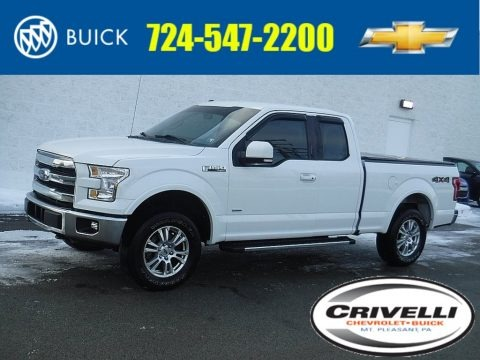 Oxford White 2015 Ford F150 Lariat SuperCab 4x4
