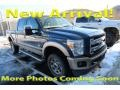 Ford F350 Super Duty King Ranch Crew Cab 4x4 Blue Jeans Metallic photo #1