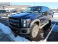 Ford F350 Super Duty King Ranch Crew Cab 4x4 Blue Jeans Metallic photo #3