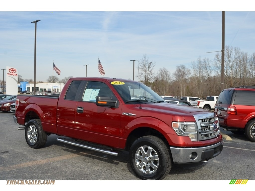 2014 F150 XLT SuperCab 4x4 - Ruby Red / Steel Grey photo #1