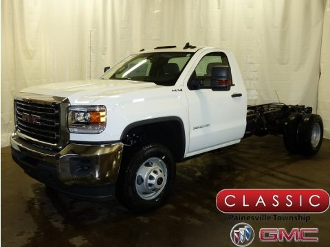 Summit White 2018 GMC Sierra 3500HD Regular Cab 4x4 Chassis