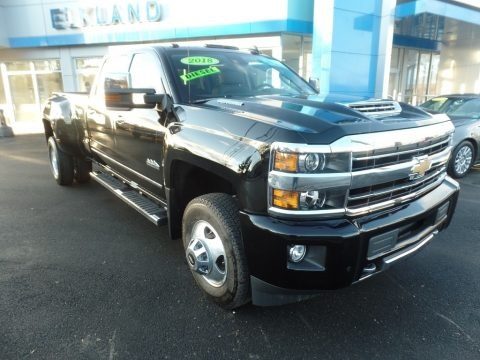 Black 2018 Chevrolet Silverado 3500HD High Country Crew Cab 4x4