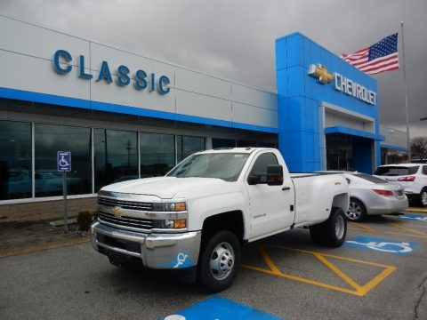 Summit White 2018 Chevrolet Silverado 3500HD Work Truck Regular Cab 4x4