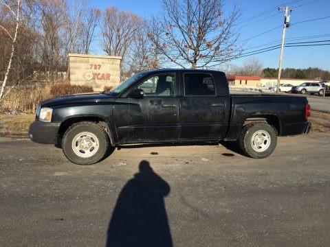 Brilliant Black Crystal Pearl 2007 Dodge Dakota ST Quad Cab