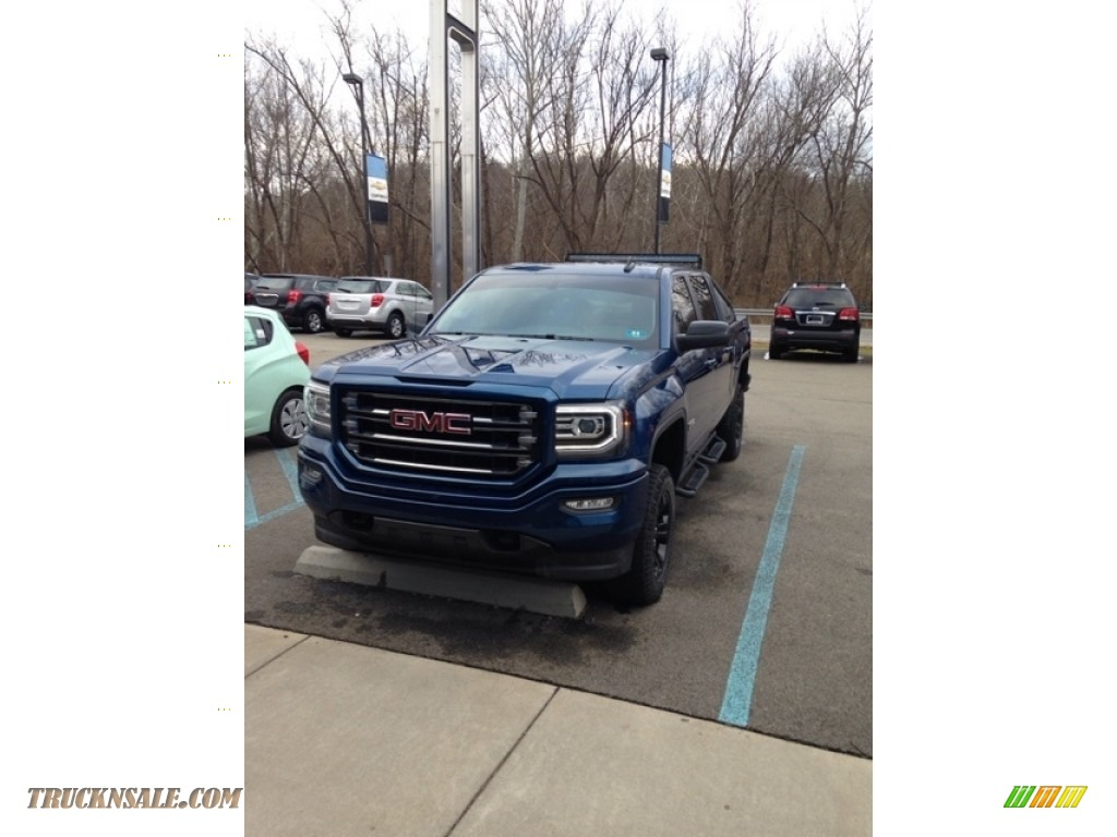 2016 Sierra 1500 SLT Crew Cab 4WD - Stone Blue Metallic / Jet Black photo #1