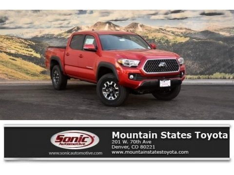 Barcelona Red Metallic 2018 Toyota Tacoma TRD Off Road Double Cab 4x4