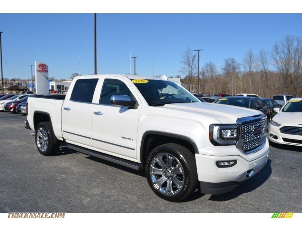 2016 Sierra 1500 Denali Crew Cab 4WD - White Frost Tricoat / Cocoa/Dune photo #1