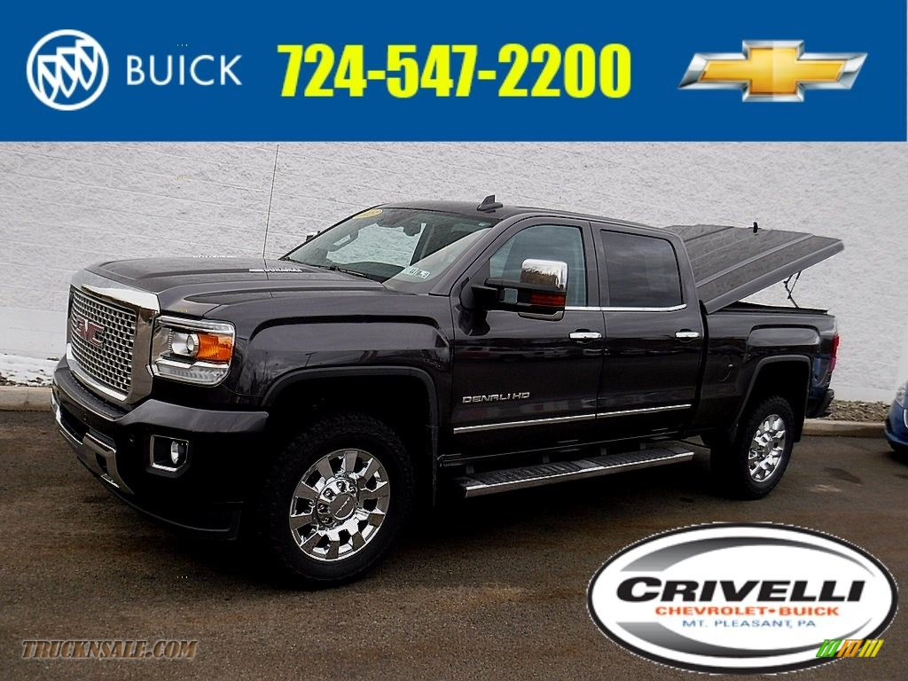 2015 Sierra 2500HD Denali Crew Cab 4x4 - Iridium Metallic / Jet Black photo #1