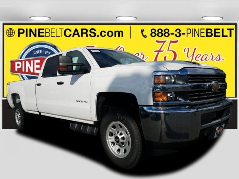 Summit White 2018 Chevrolet Silverado 3500HD Work Truck Crew Cab 4x4