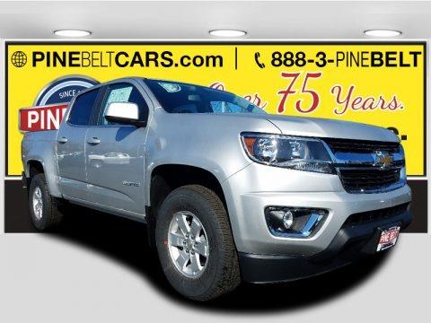 Silver Ice Metallic 2018 Chevrolet Colorado WT Crew Cab 4x4