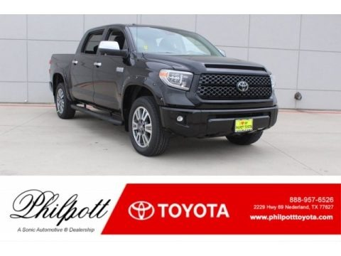 Midnight Black Metallic 2018 Toyota Tundra Platinum CrewMax 4x4