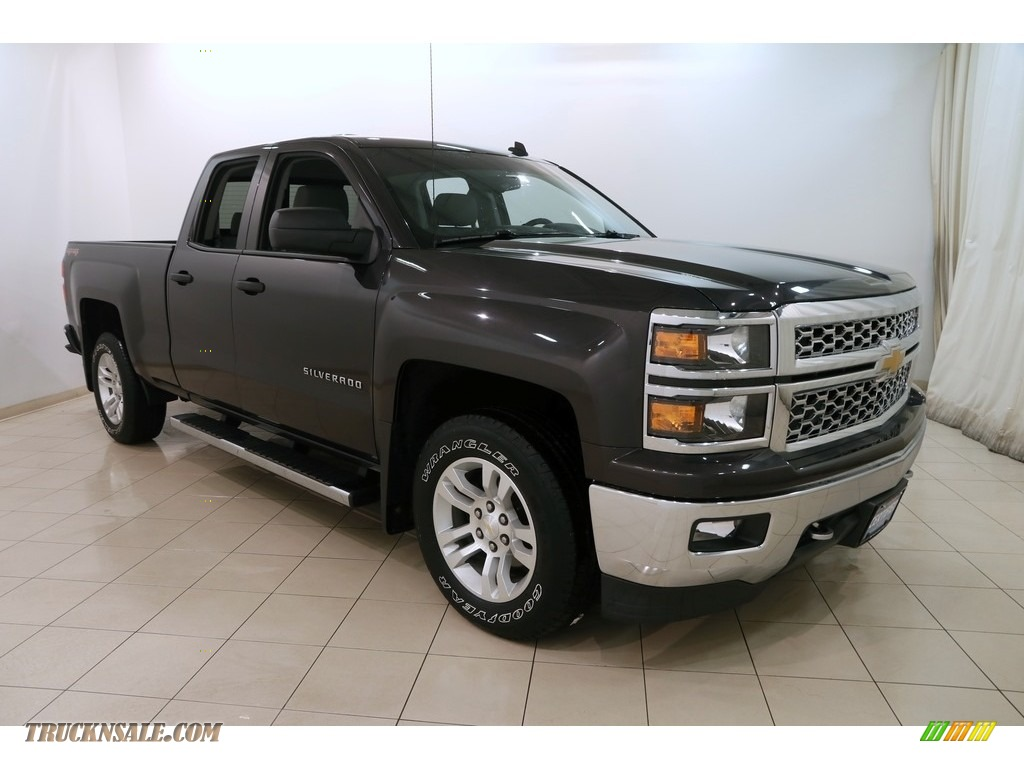 2014 Silverado 1500 LT Double Cab 4x4 - Tungsten Metallic / Jet Black/Dark Ash photo #1