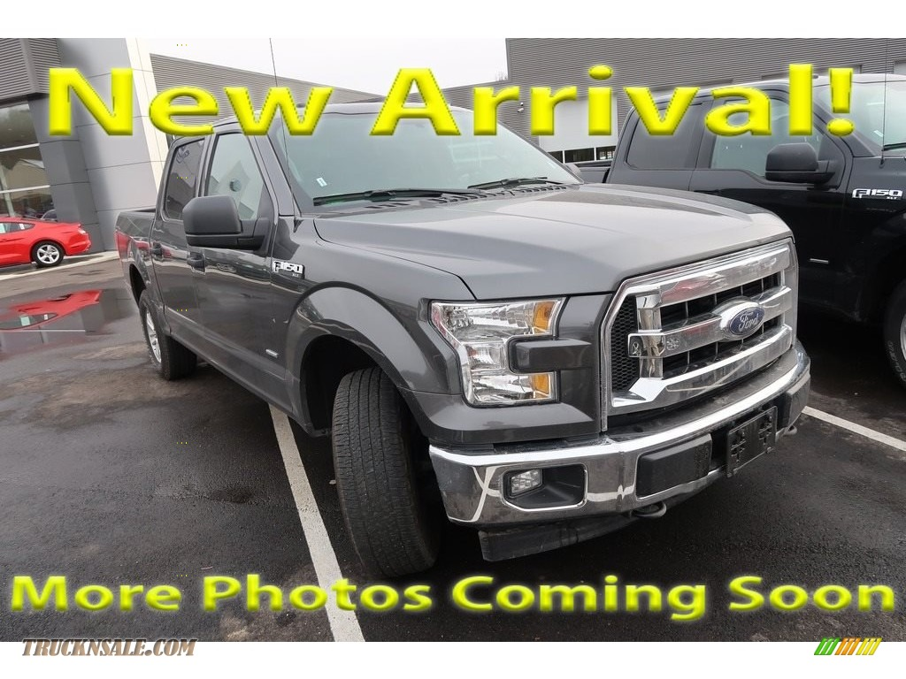 2017 F150 XLT SuperCrew 4x4 - Lithium Gray / Earth Gray photo #1
