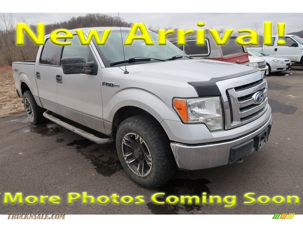 2009 F150 XLT SuperCrew 4x4 - Brilliant Silver Metallic / Stone/Medium Stone photo #1