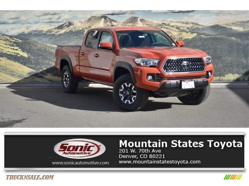 2018 Tacoma TRD Off Road Double Cab 4x4 - Inferno / Black/Red photo #1