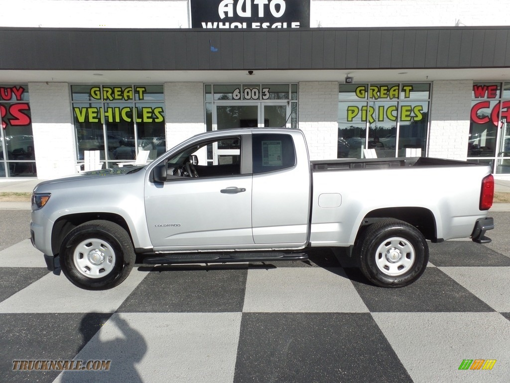 2016 Colorado WT Extended Cab - Silver Ice Metallic / Jet Black/Dark Ash photo #1