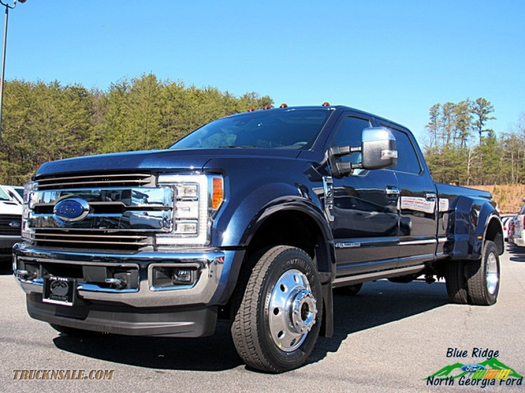 2018 F450 Super Duty King Ranch Crew Cab 4x4 - Blue Jeans / King Ranch Java photo #1