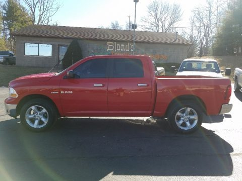 Flame Red 2009 Dodge Ram 1500 SLT Crew Cab 4x4