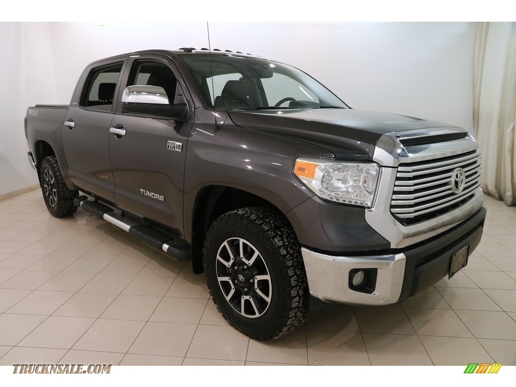 2015 Tundra Limited CrewMax 4x4 - Magnetic Gray Metallic / Black photo #1