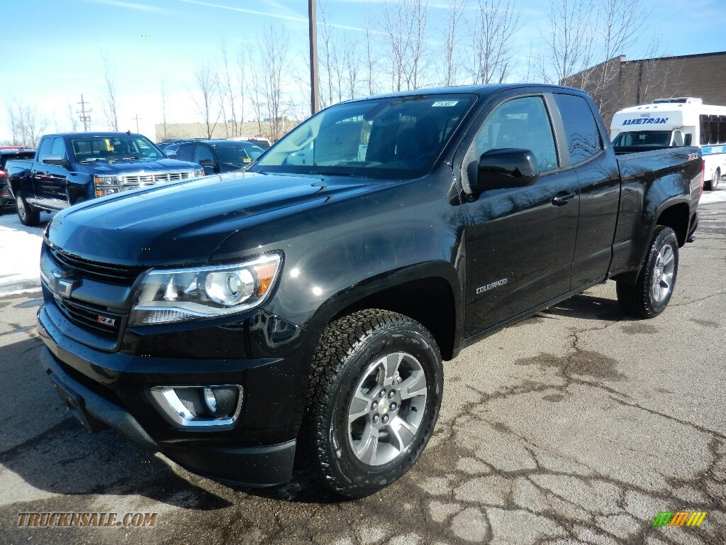2018 Colorado Z71 Extended Cab 4x4 - Black / Jet Black photo #1