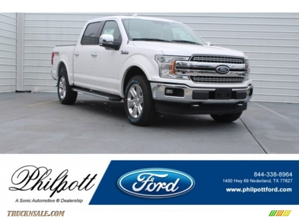 2018 F150 Lariat SuperCrew 4x4 - White Platinum / Light Camel photo #1