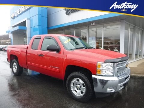 Victory Red 2012 Chevrolet Silverado 1500 LT Extended Cab 4x4