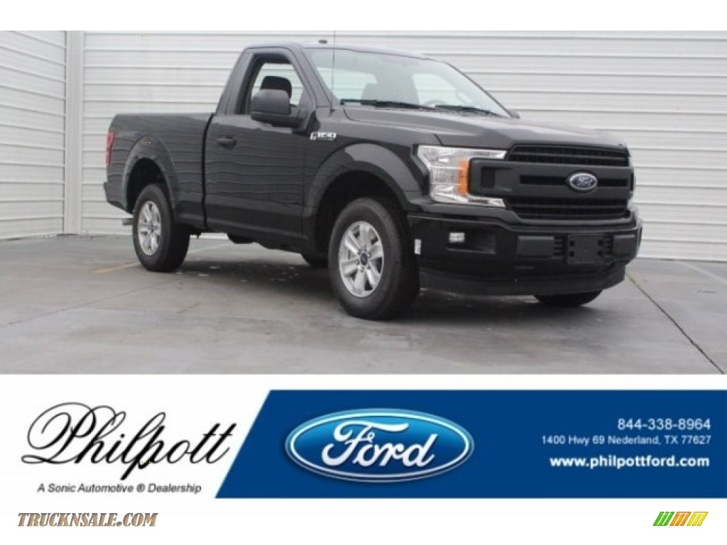 2018 F150 XL Regular Cab - Shadow Black / Earth Gray photo #1