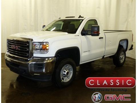 Summit White 2018 GMC Sierra 2500HD Regular Cab 4x4